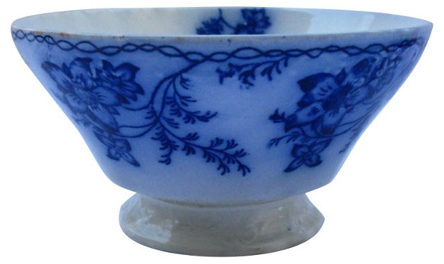 Flow Blue Floral Serving Bowl