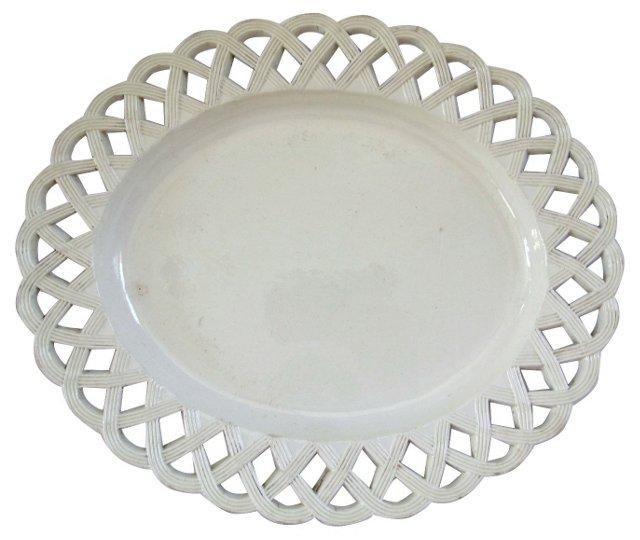 Antique Creamware Platter, C. 1780