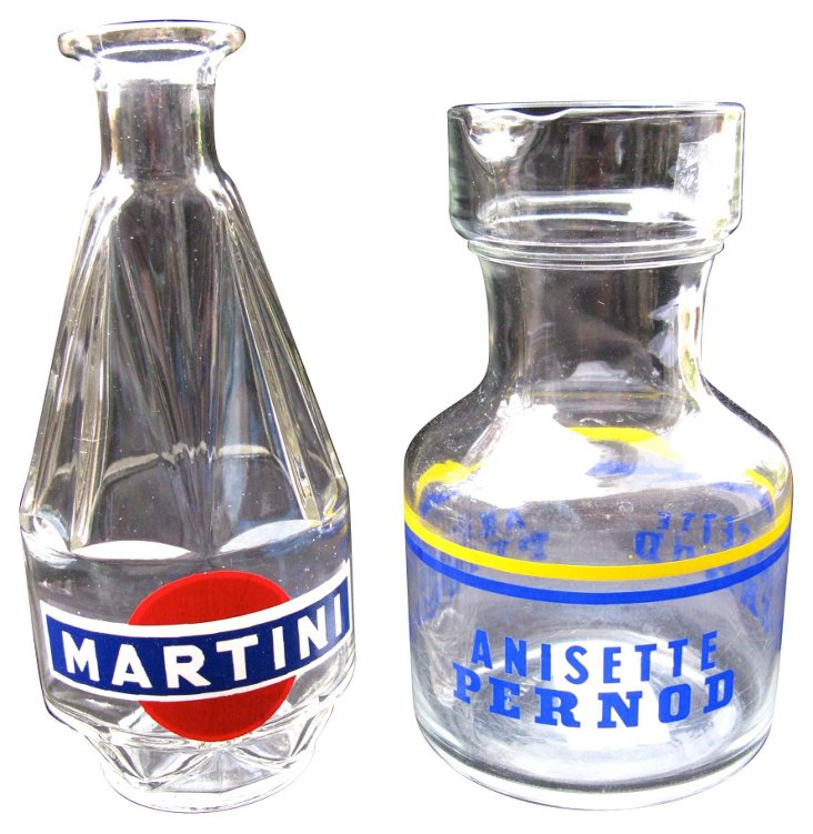 Martini Cocktail Pitchers, S/2