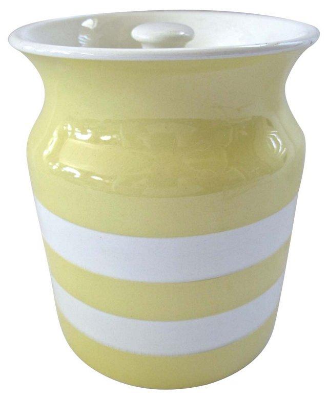English Yellow Cornishware Canister