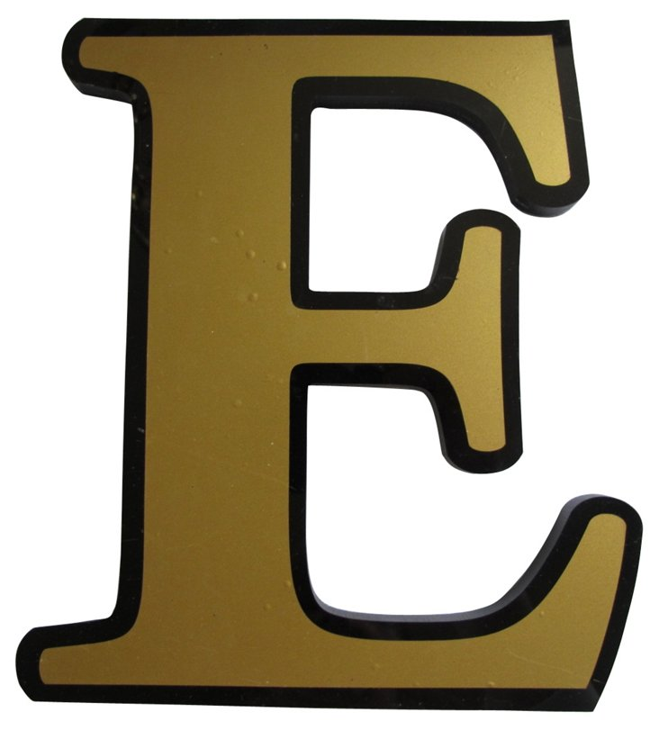 English Pub Sign      Letter E