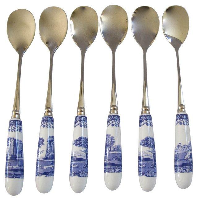 Spode's Italian Pattern Spoons, S/6