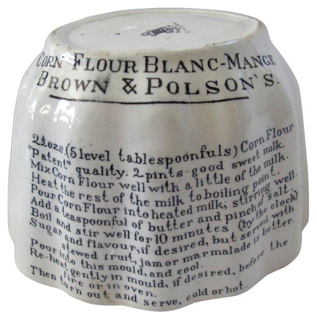 Antique Ironstone Recipe Mold