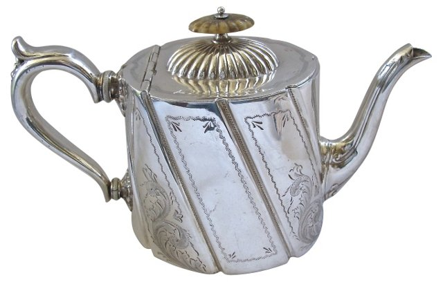 Antique Sheffield Silverplate Tea Pot