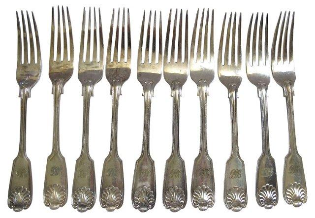 Mappin & Webb Dinner Forks, S/10