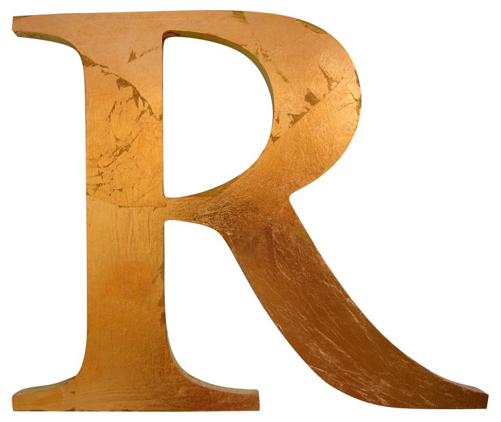 English Copper-Leaf Pub  Letter R Sign