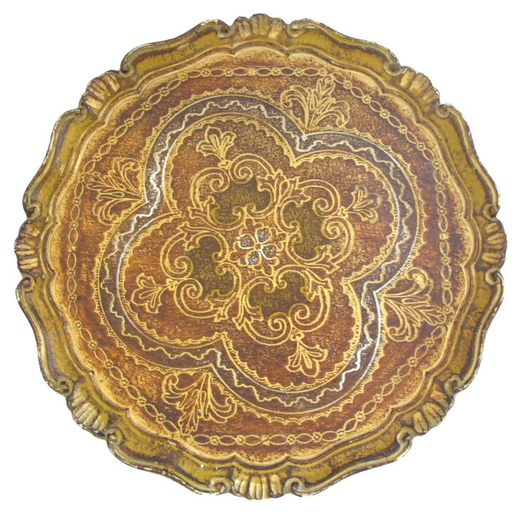 Hand-Painted Florentine         Tray
