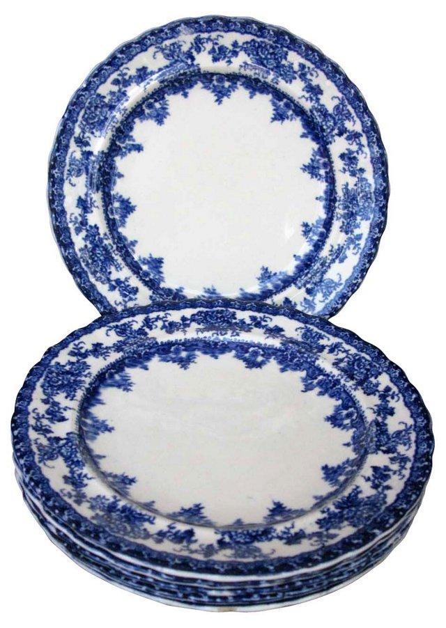 Flow Blue Side Plates, S/6