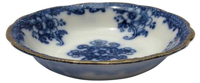 Antique Flow Blue Serving    Bowl