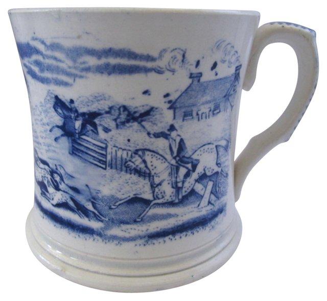 19th-C. Staffordshire Equestrian   Mug