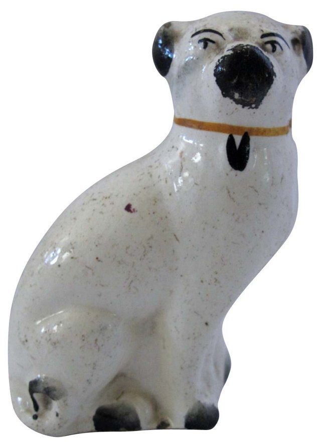 Antique  Staffordshire   Pug