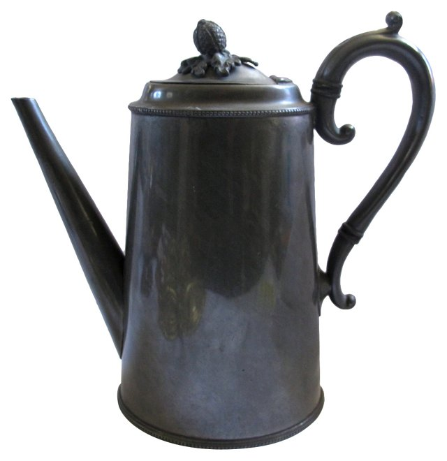 Antique English Pewter Coffeepot