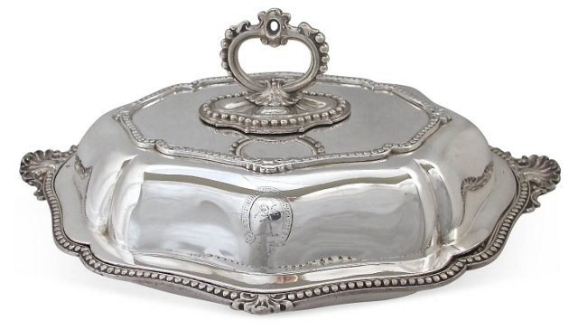Heavy Silverplate Serving    Dish