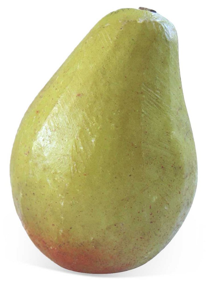 Hand-Painted Alabaster   Golden Pear
