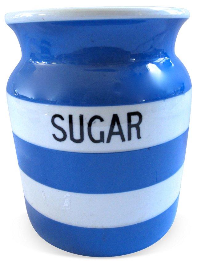 English Cornishware  Sugar Canister