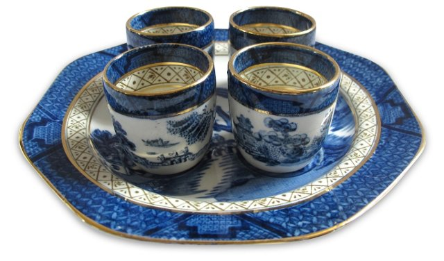 English Willow Egg Cup Set, 5 Pcs