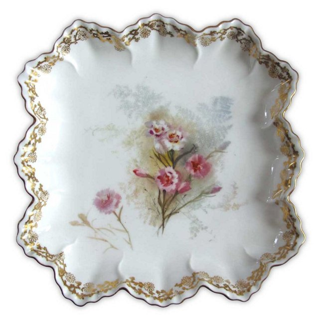Hand-Painted Carnation  Doulton  Plate