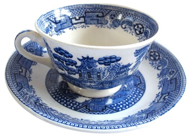 English Willow Cup & Saucer