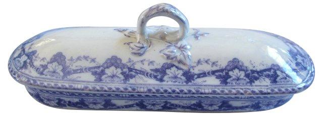 Antique Staffordshire Lilac Razor Box