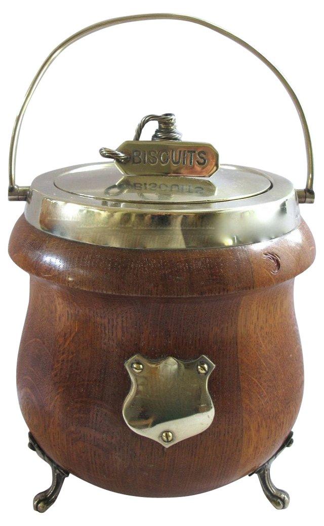 English Oak    Biscuit Jar