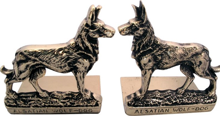 English Brass Dog  Bookends