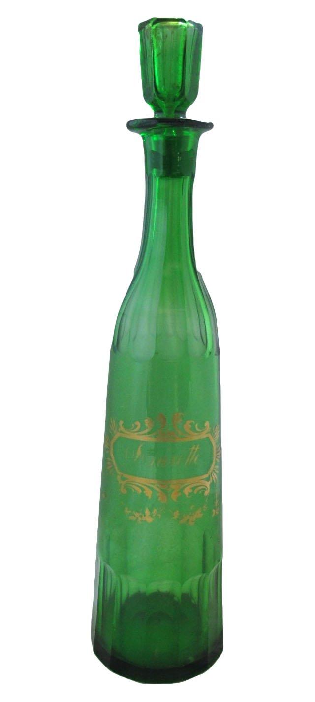 Antique French Cut-Glass Anisette Bottle