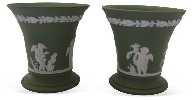 Wedgwood Jasperware Bud Vases, Pair