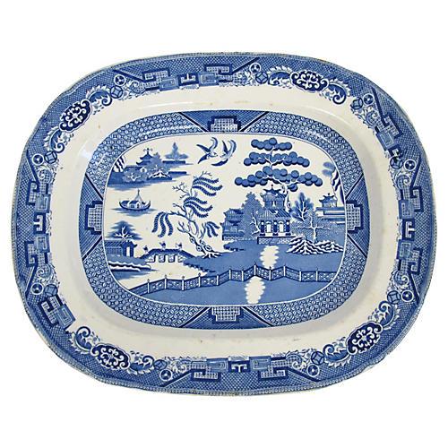 Antique English Willow Platter