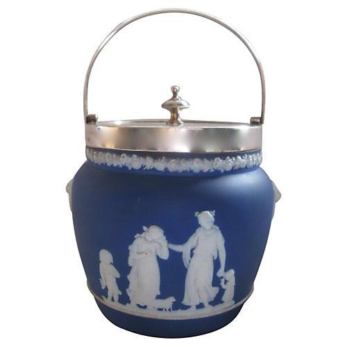 Antique Wedgwood Jasper Dip Ice Bucket