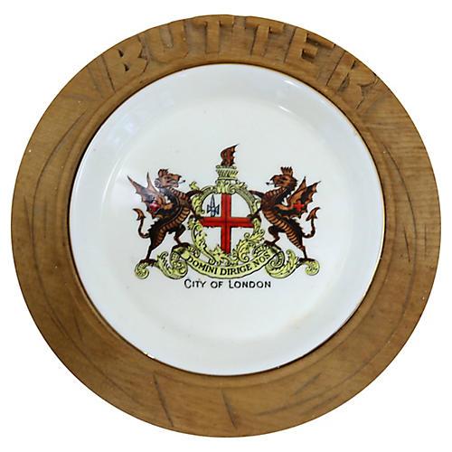 City of London Souvenir Butter Dish