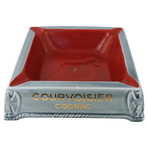 French Bistro Courvoisier Cigar Ashtray