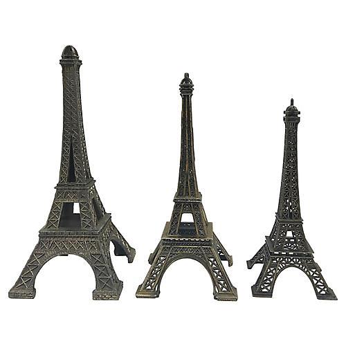 1950s Eiffel Tower Souvenirs, S/3