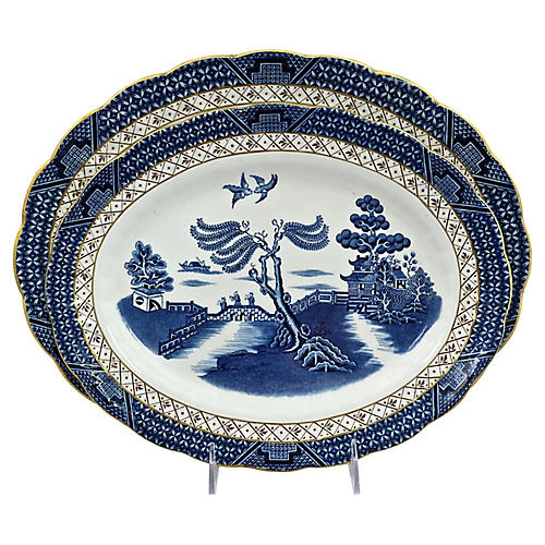 English Willow Platters, S/2