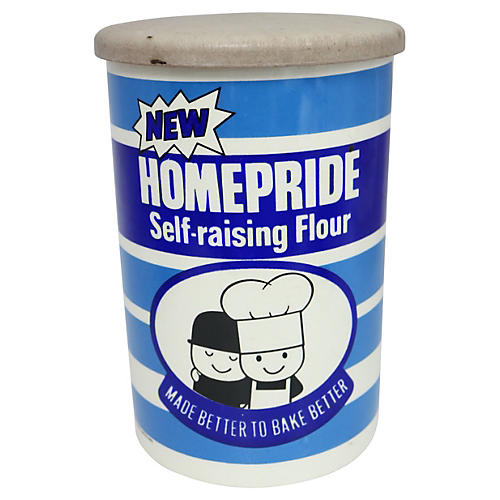 Mid-Century English Flour Canister