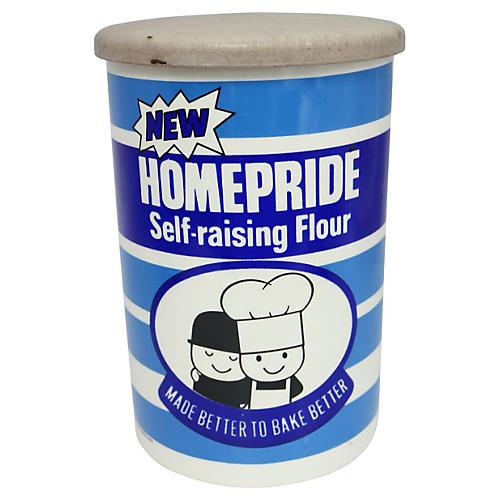 Mid-Century English Flour Canister