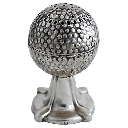 1915 Sterling Golfball Salt Shaker