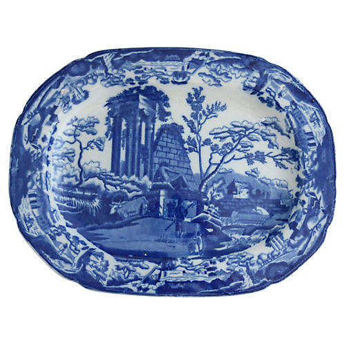 1820s English Transferware Platter