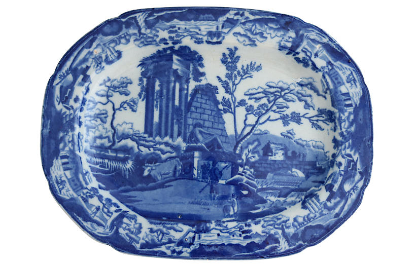 1820s English Transferware Platter