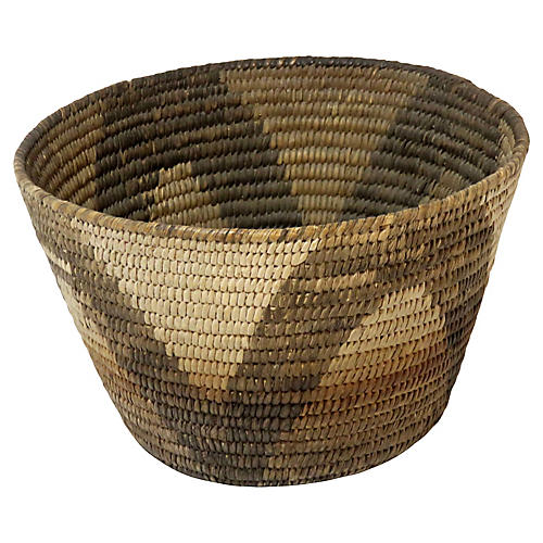 1920s Handwoven Basket