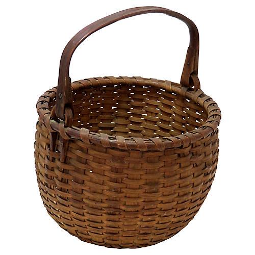 Antique American Swing Handle Basket