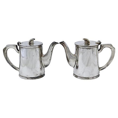 Walker & Hall Hotel Ware Teapots, Pair