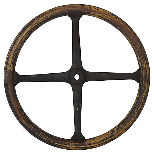 Early 1900s Automobile Steering Wheel