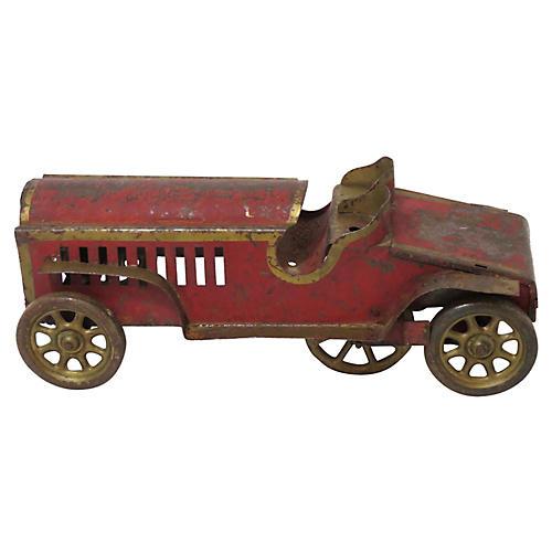 Antique Metal Toy Race Car
