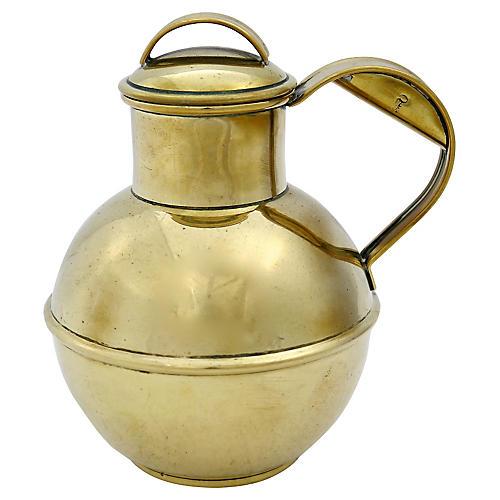 Antique Brass Guernsey Cream Jug