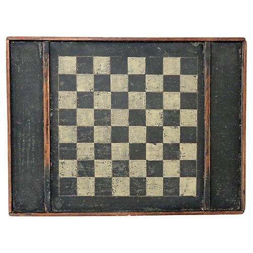 Antique Wood Folk Art Game Board