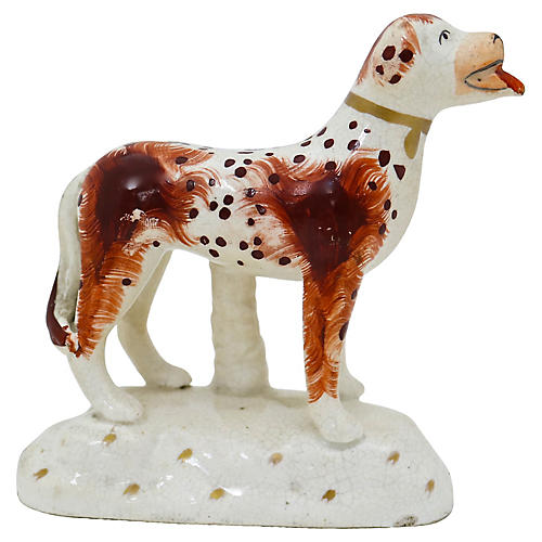 Antique Staffordshire St. Bernard Dog