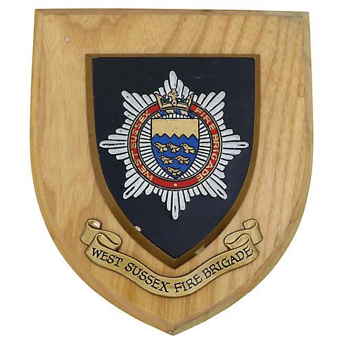 West Sussex Fire Brigade Wall Plaque