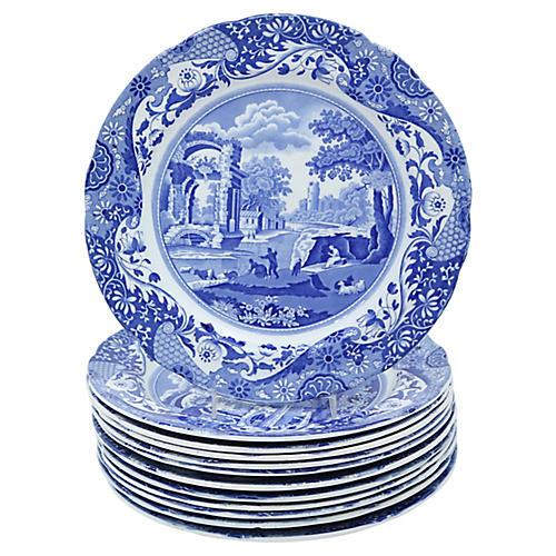 Spode's Italian Dinner Plates, S/12