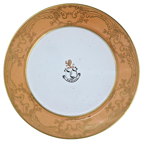 Griffith Family Crest Plate, C.1820