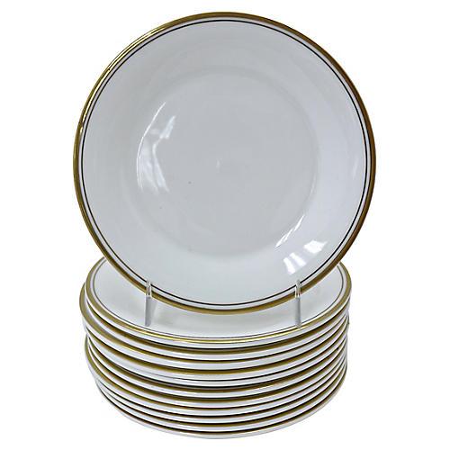 Royal Doulton Gilded Edge Plates, S/12